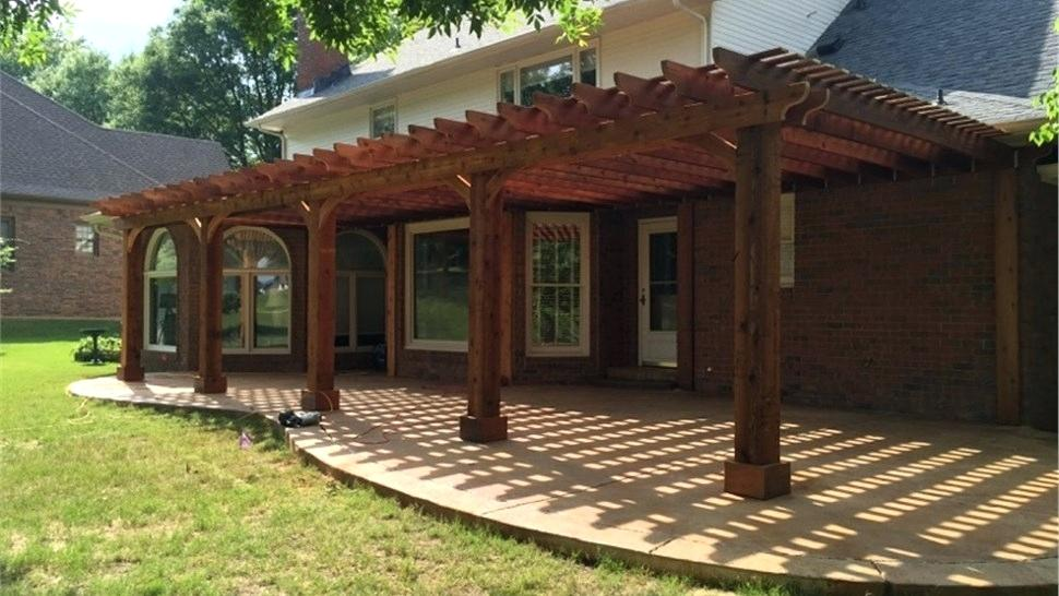 Image of: Rustic Cedar Patio Cover