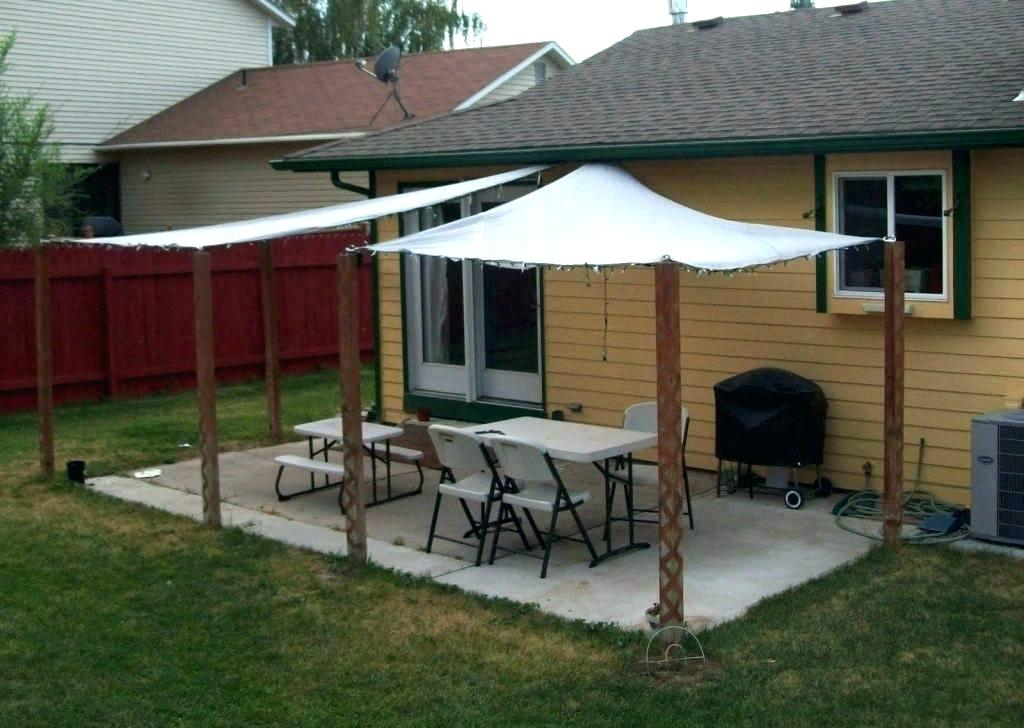 Image of: Sail Sun Shade Patio Cover