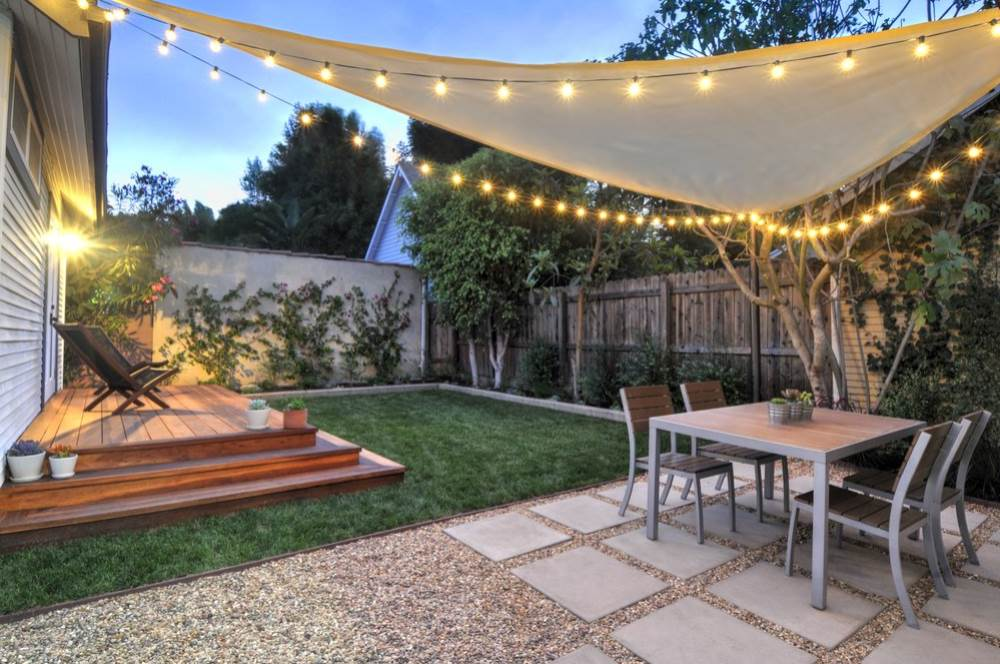 Image of: Small Backyard Patio Ideas Light