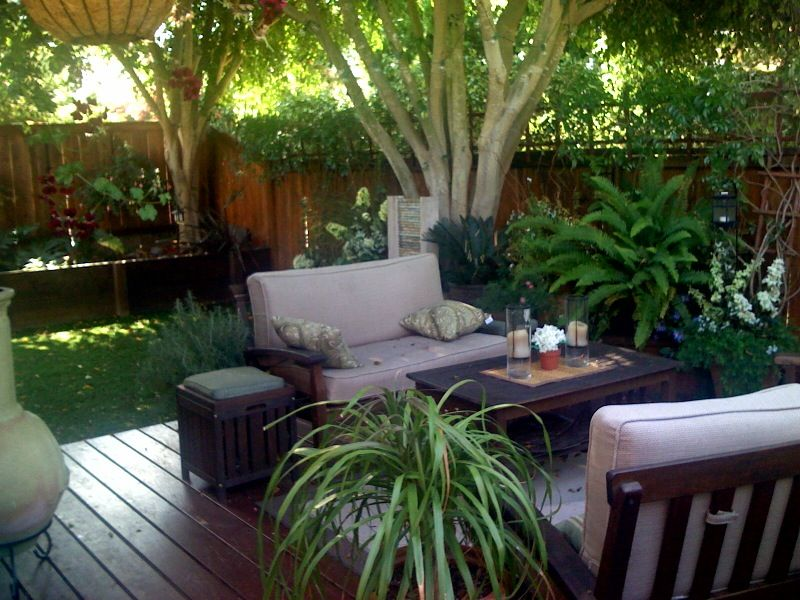 Image of: Small Patio Landscaping Ideas Cozy