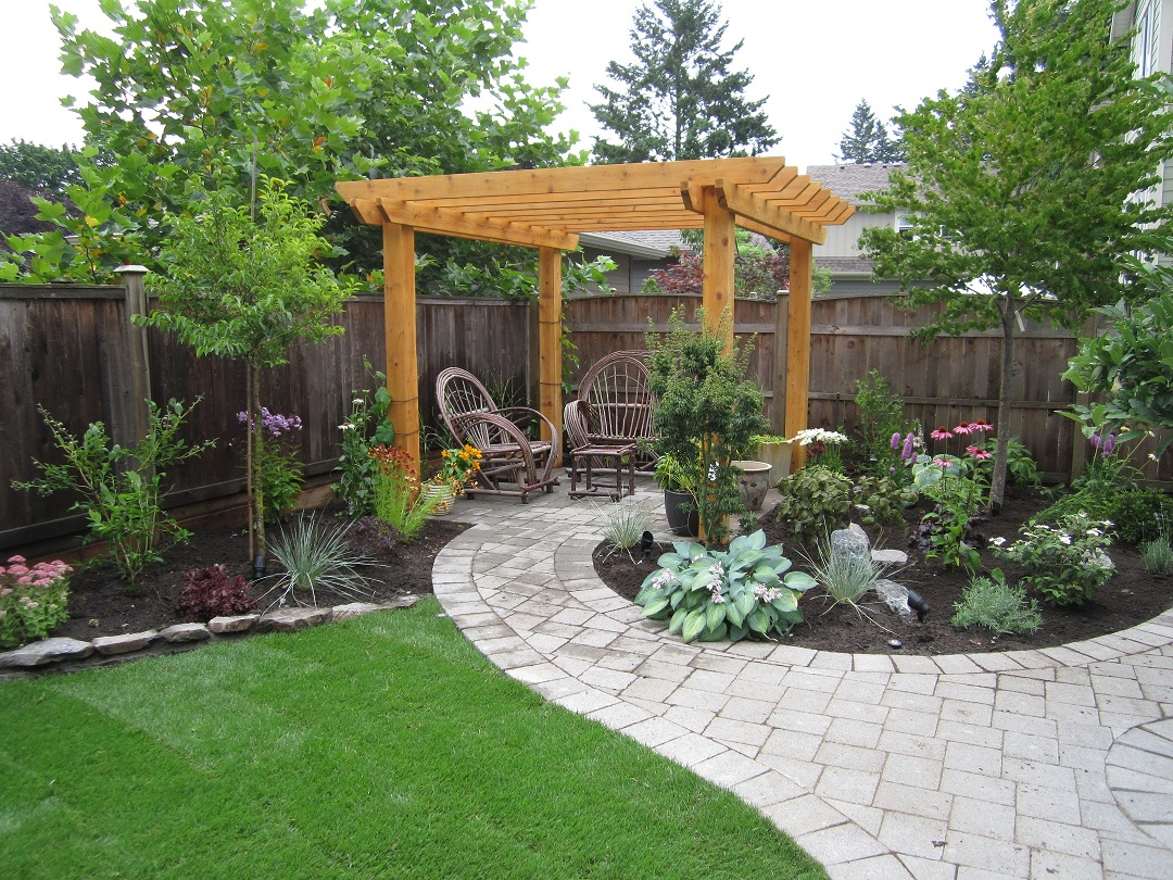 Image of: Small Patio Landscaping Ideas Pergola