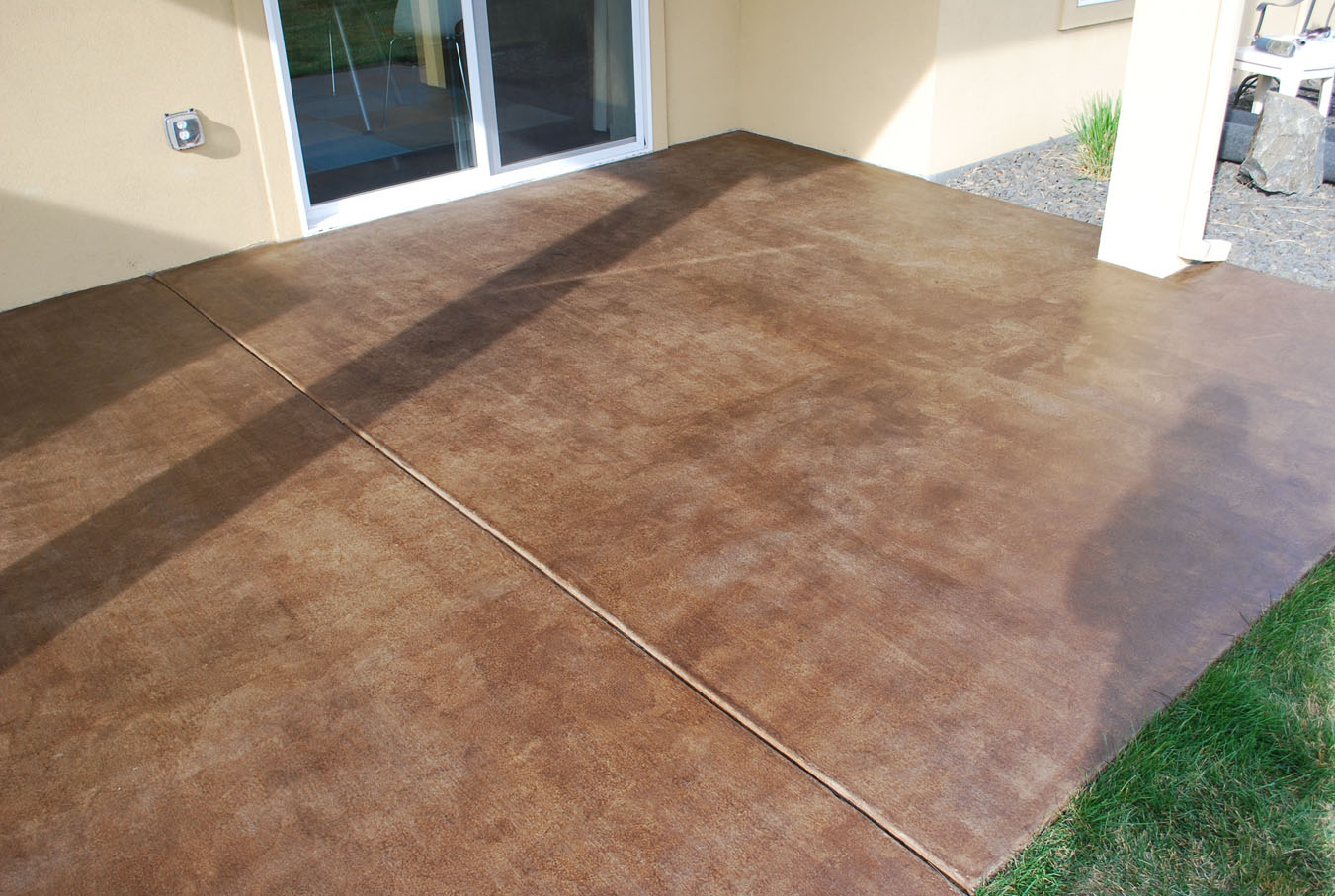 Image of: Stained Concrete Patio Ideas Brick