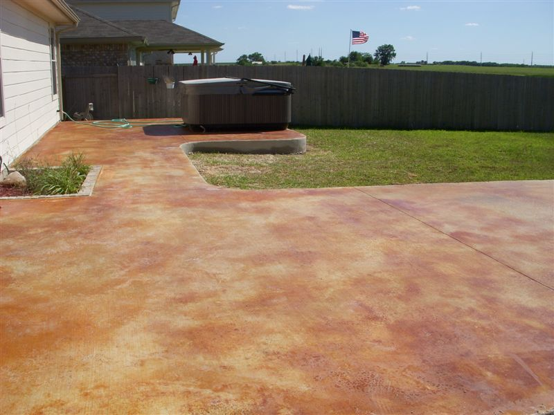 Image of: Stained Concrete Patio Ideas Designs