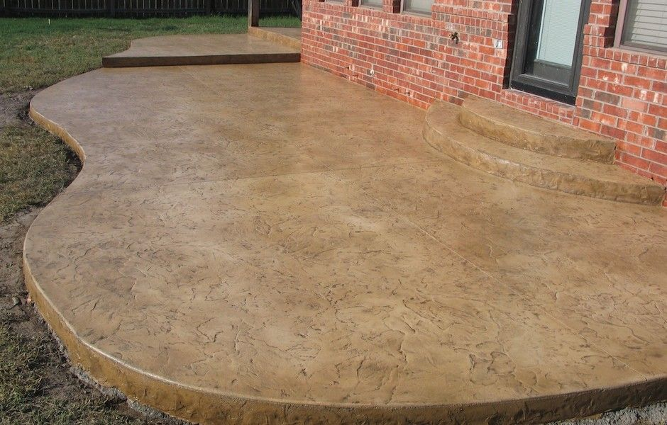 Image of: Stained Concrete Patio Ideas Picks