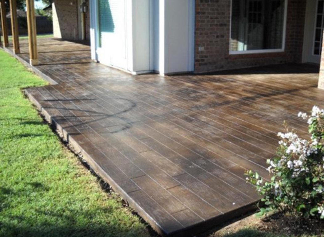 Image of: Stained Concrete Patio Ideas Sealer
