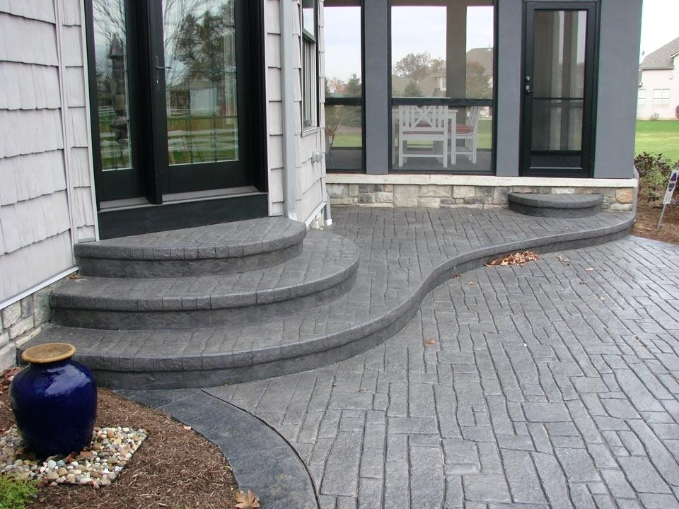 Image of: Stamped Concrete Patio Ideas Pictures