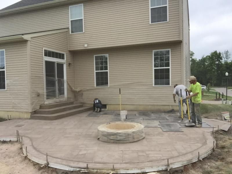 Image of: Stamped Concrete Patio Ideas and Steps