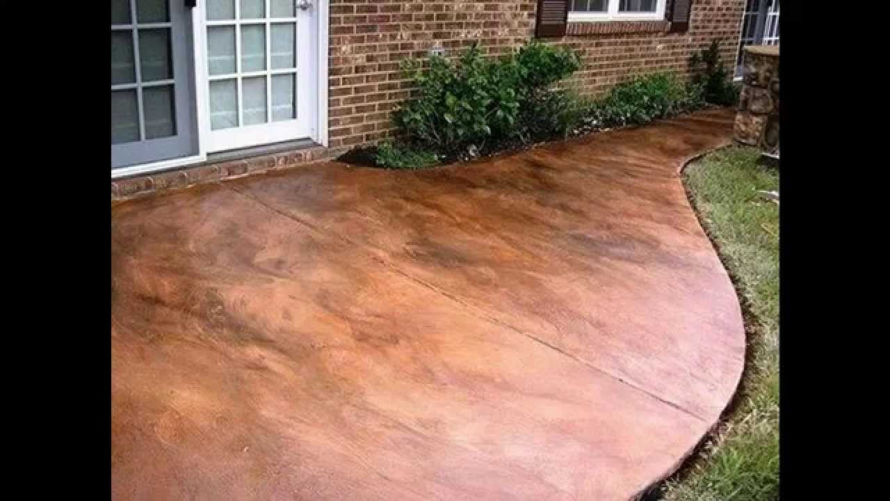 Image of: Stamped And Stained Concrete Patio Ideas