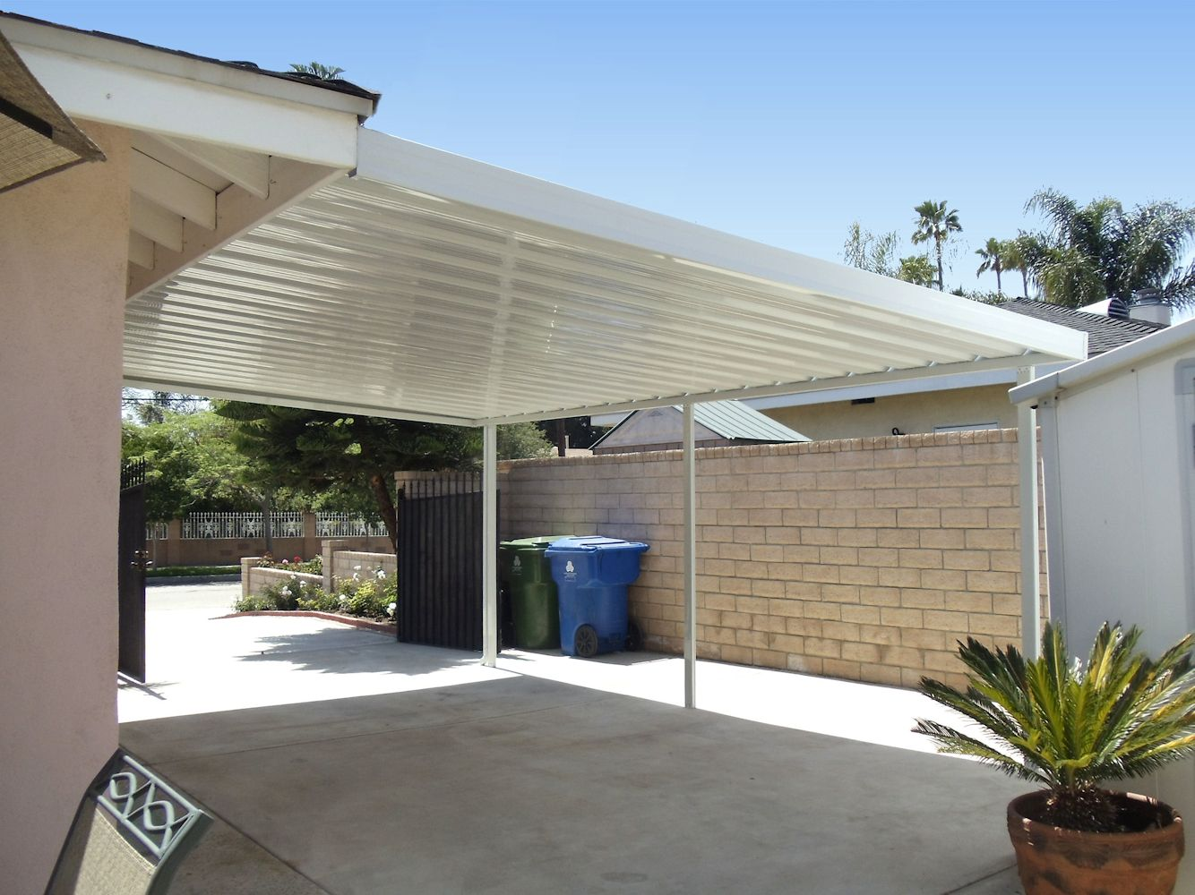Image of: Steel Patio Cover Awning