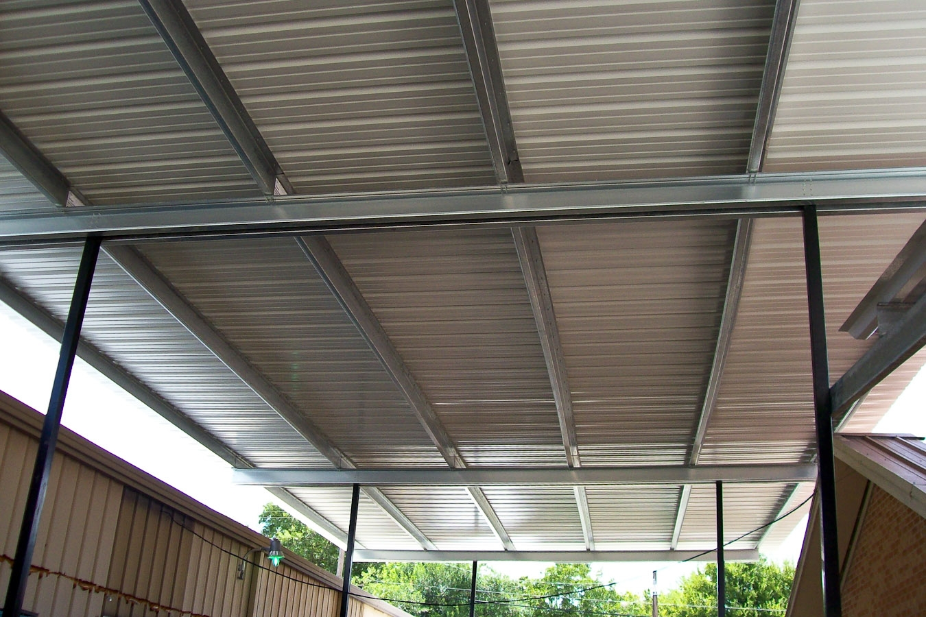 Image of: Steel Patio Cover Panels