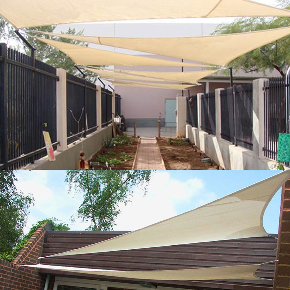Image of: Triangle Patio Cover Ideas