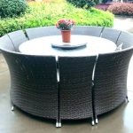 White Round Patio Table Cover