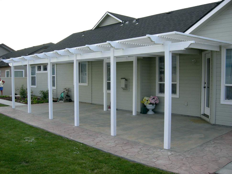 Image of: White Vinyl Patio Cover