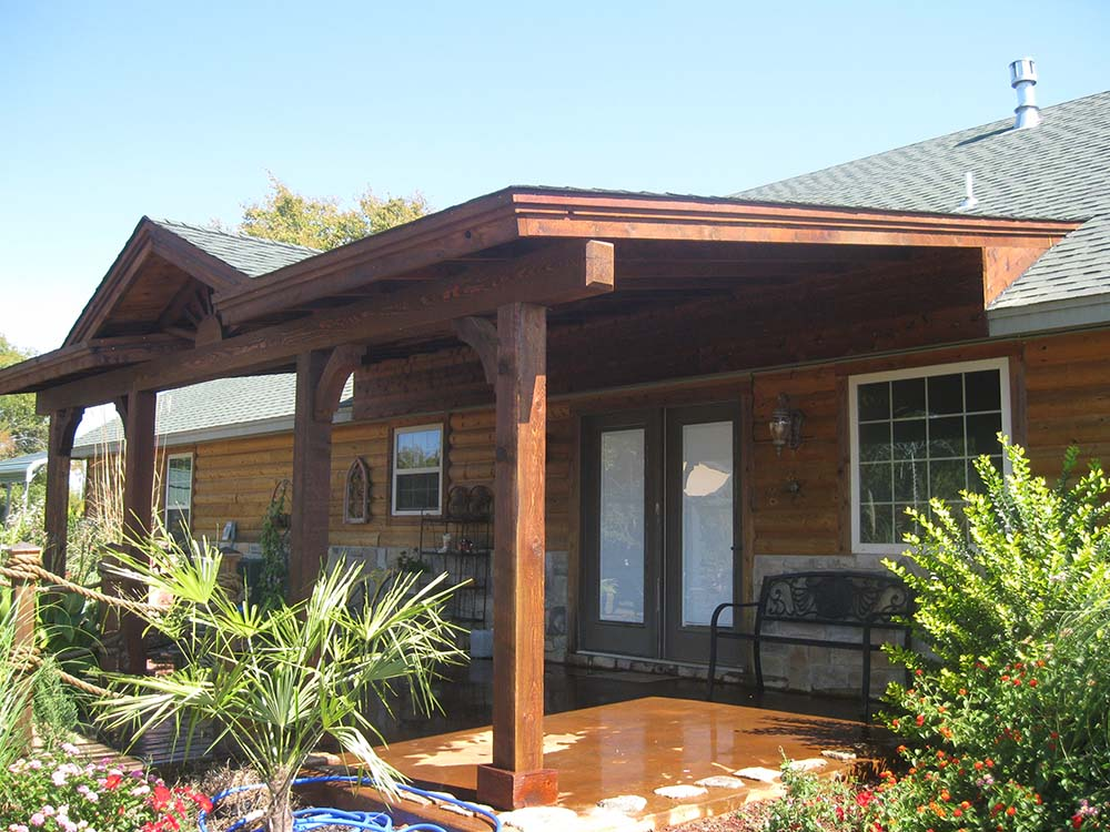Image of: Wooden Attached Patio Cover