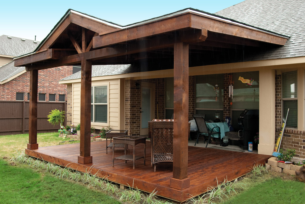 Image of: Yard Attached Patio Cover