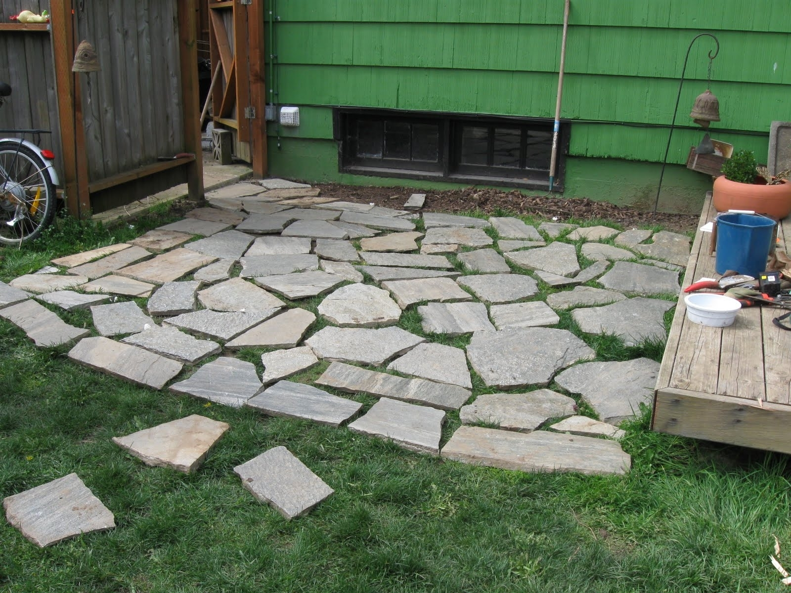 Diy Design Ideas For Patio With Wood Steps And Paver Patio