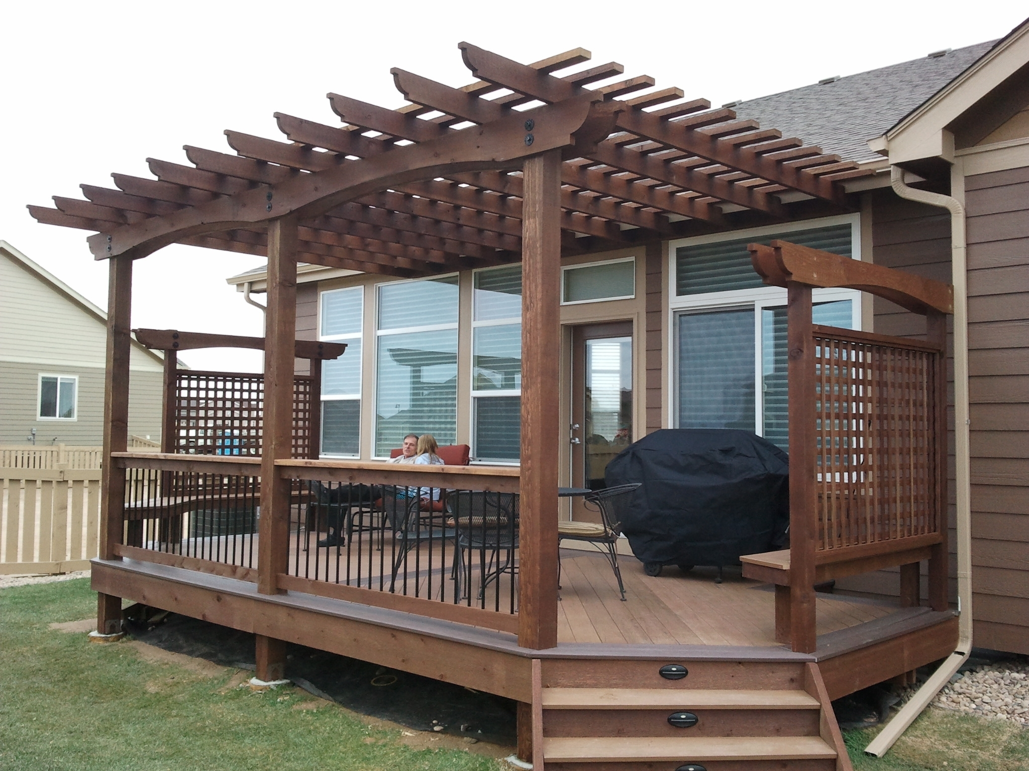 Image of: Half Pergola Half Roof Patio Cover