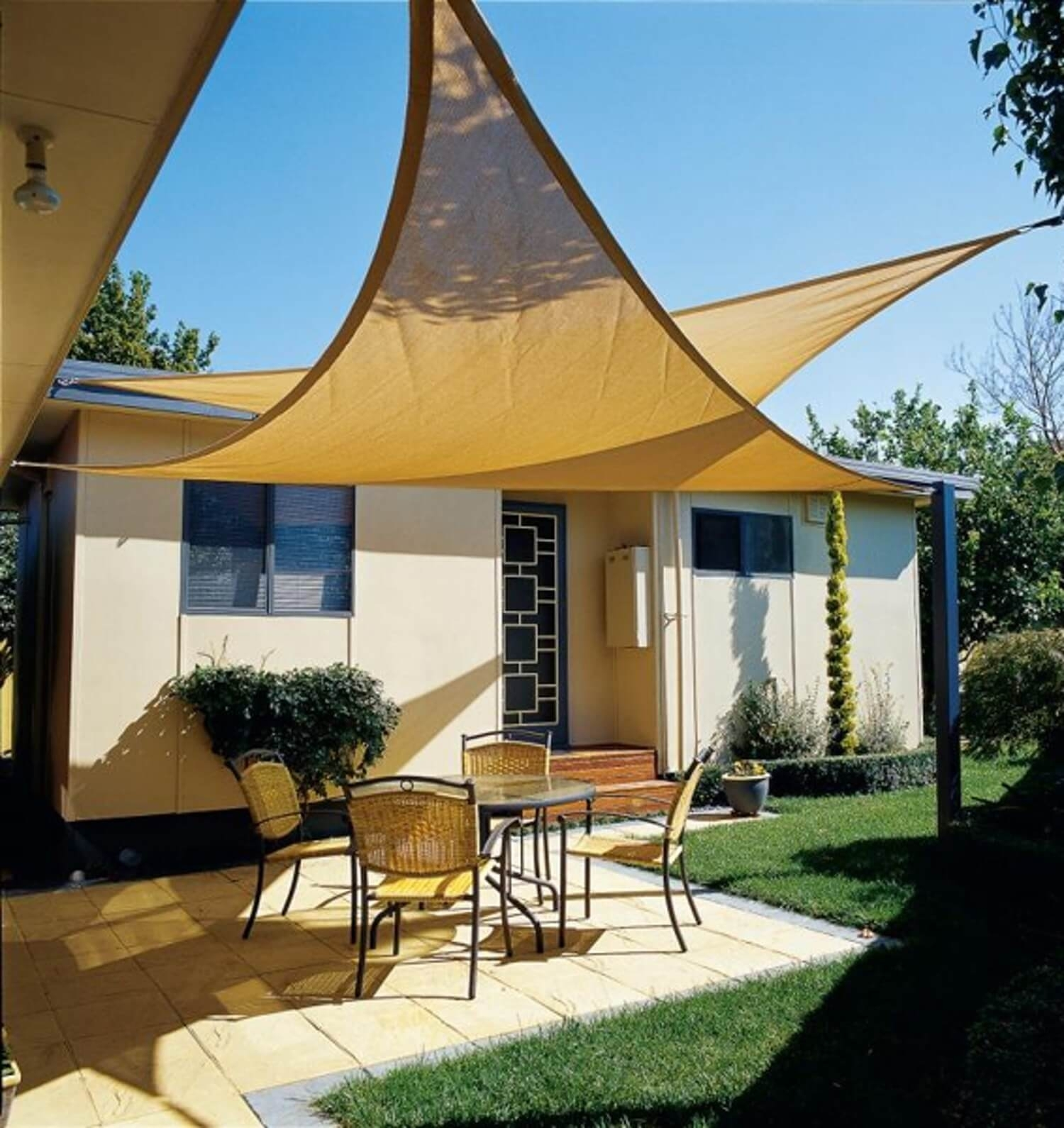 Image of: Making A Patio Cover Sun Shade
