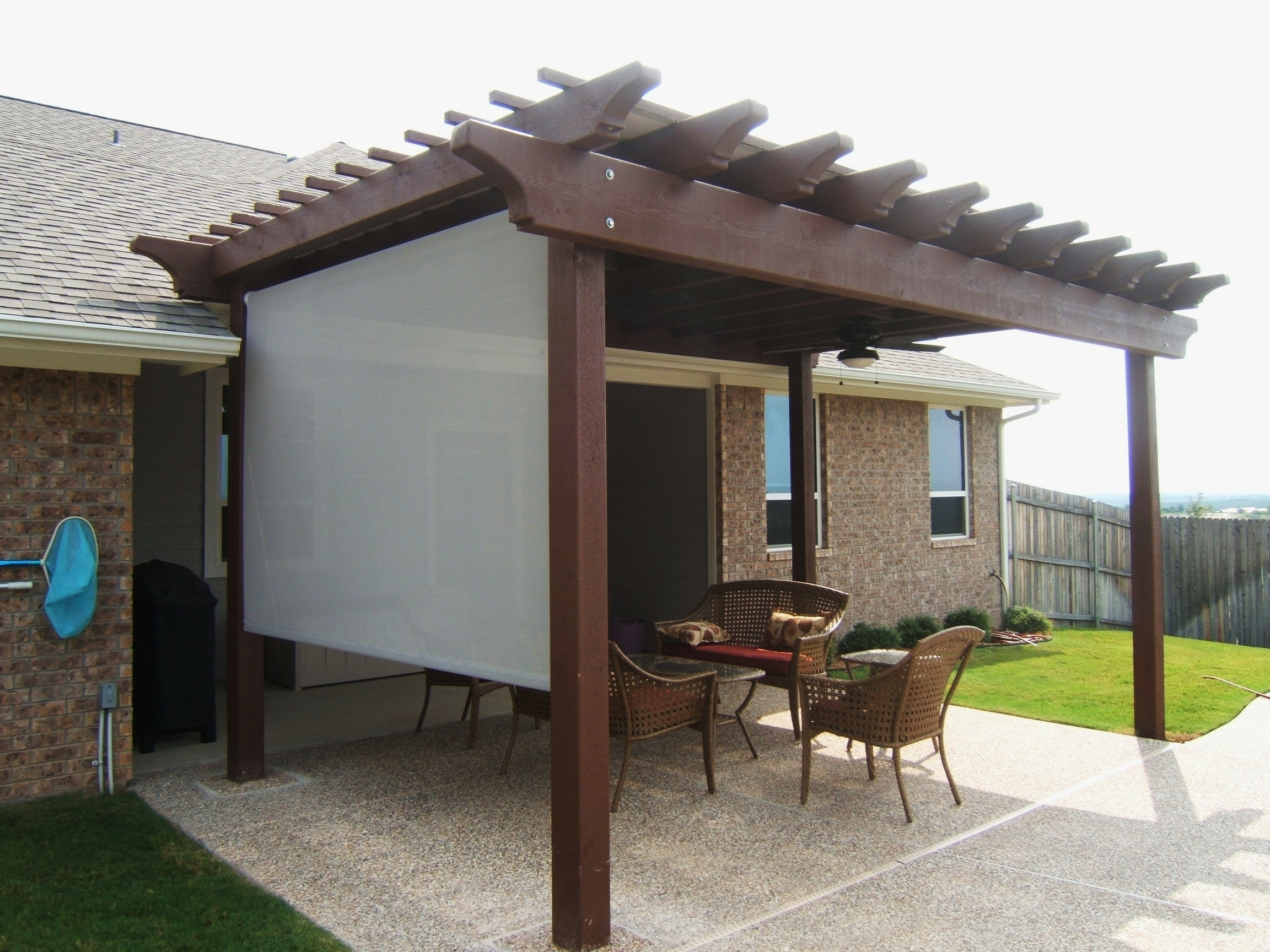 Image of: Sun Shade For Decks Patio Pergola Privacy Sunshade Blind Outdoors Windows Cover