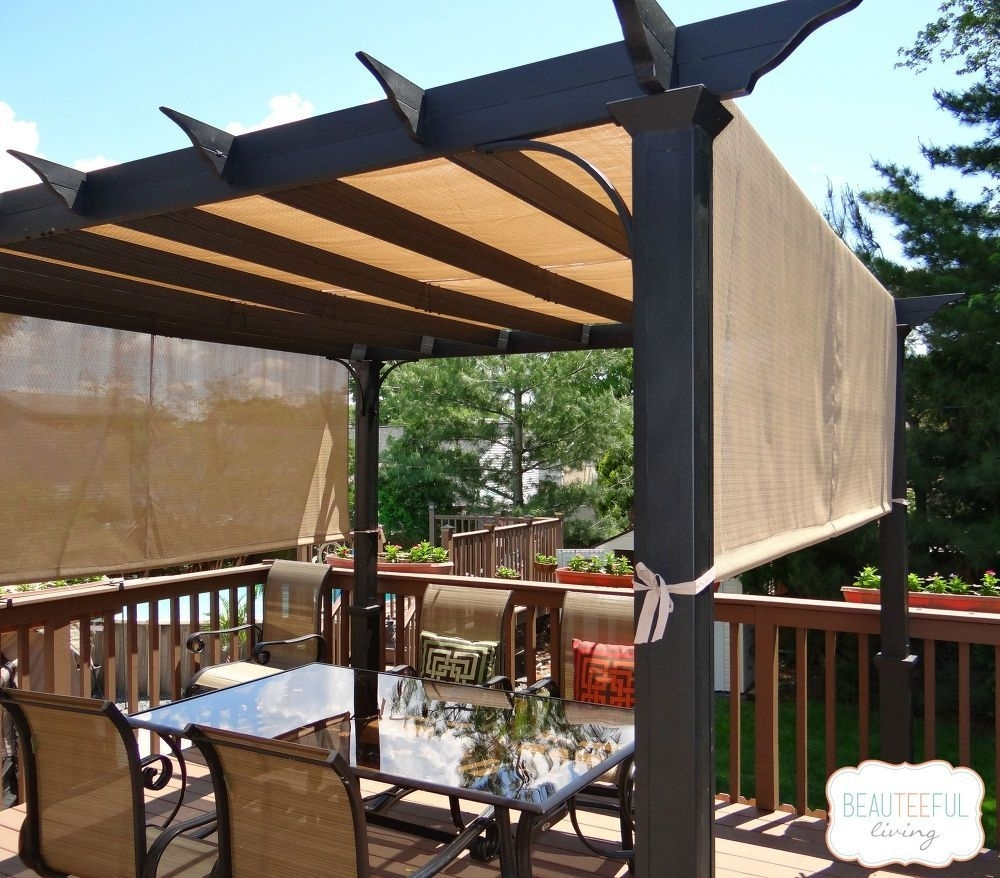 Image of: Sun Shade Sail Patio Cover Ideas