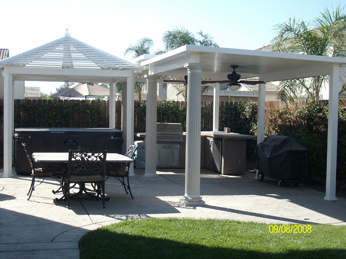 Image of: Vinyl Patio Cover Cost