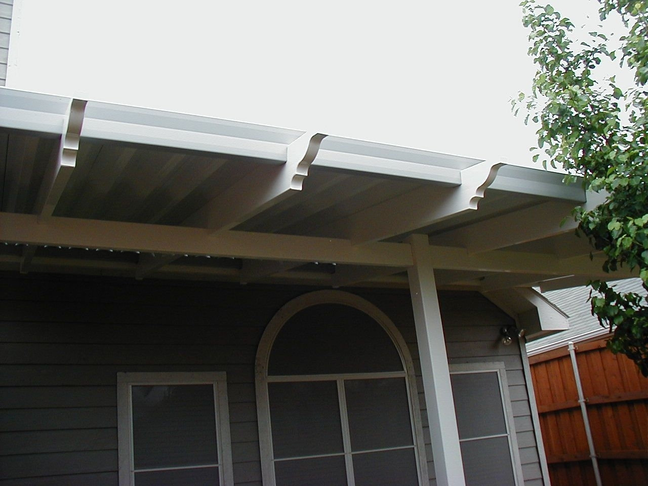 Image of: Vinyl Patio Cover Slats