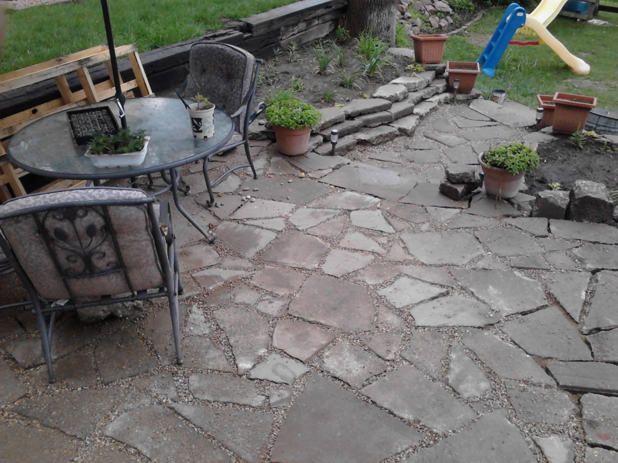 Image of: Backyard Stamped Concrete Patio Ideasdecoration