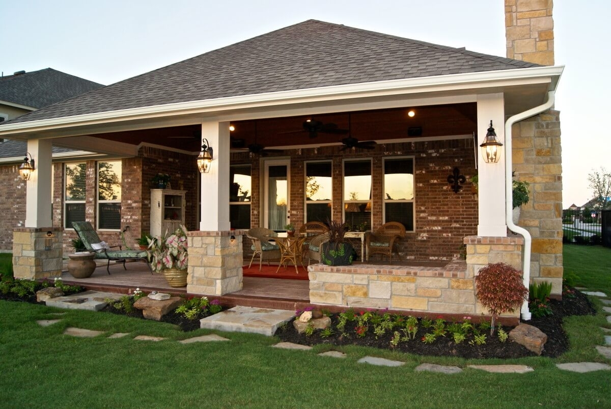Image of: Custom Detached Patio Cover Plans
