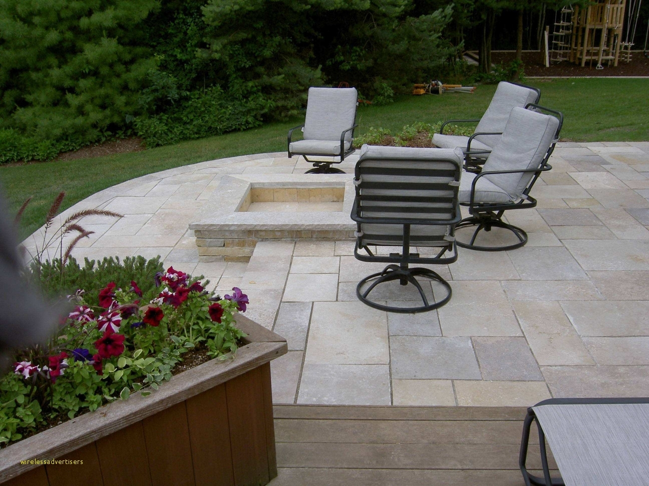 Image of: Fancy Brick Paver Patio Ideas