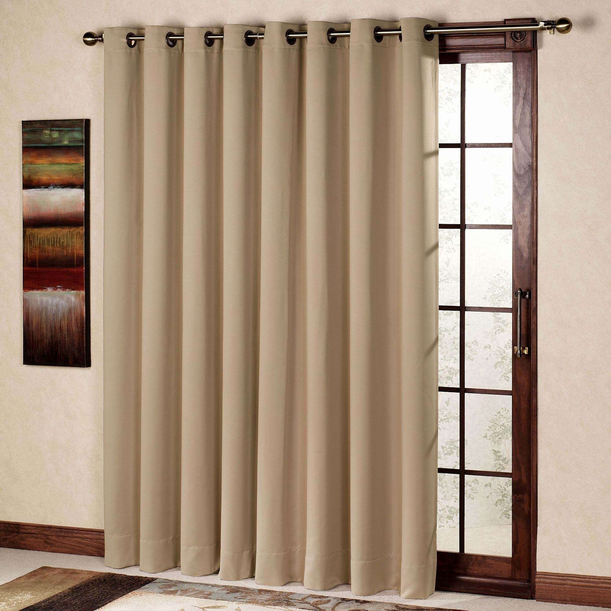 Image of: French Patio Door Window Treatment Ideas