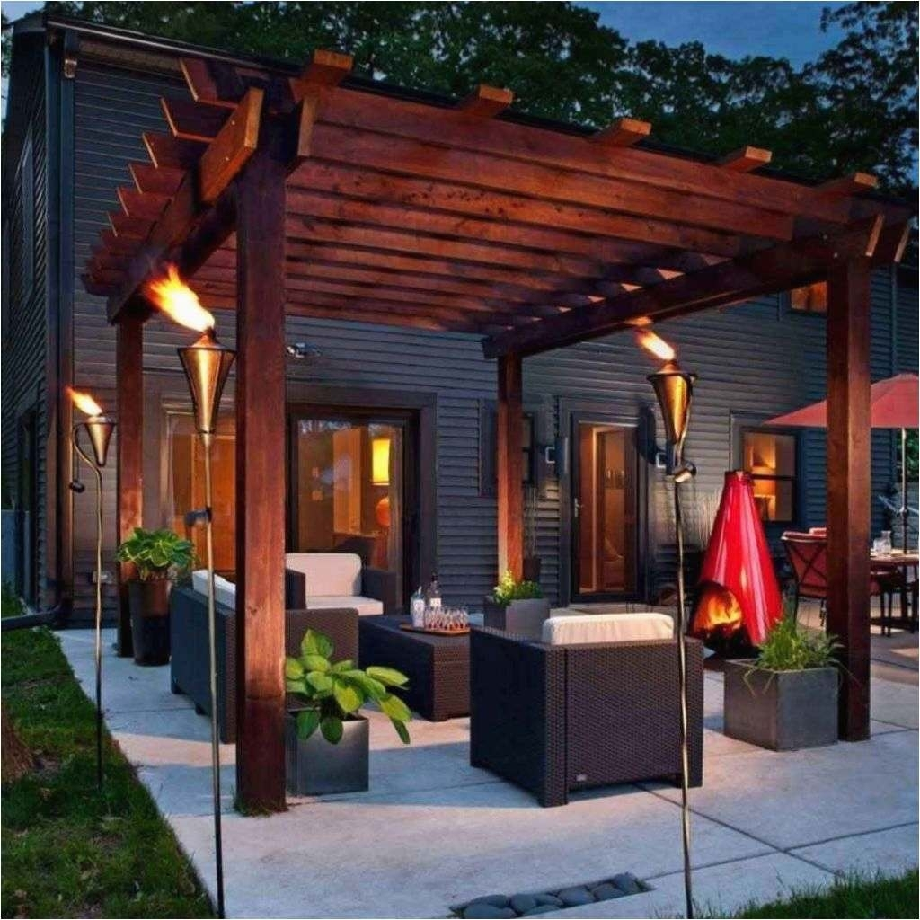 Image of: Garden Covered Patio Lighting Ideas