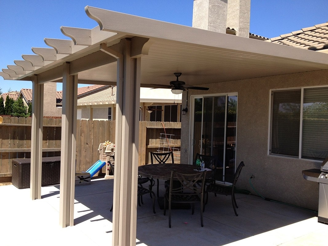 Image of: Insulated Aluminum Patio Cover Kit