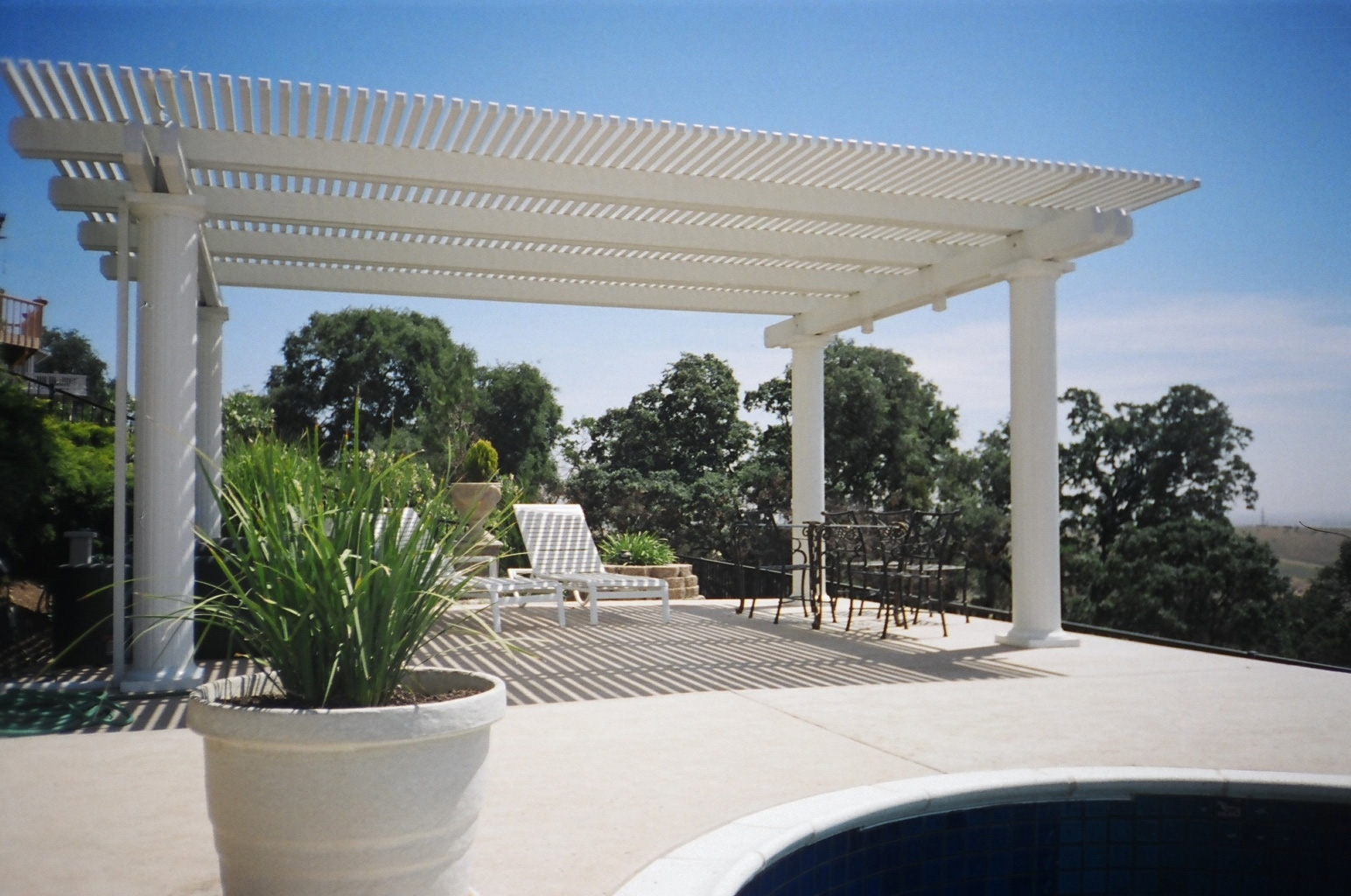 Image of: Latice Patio Cover Construction