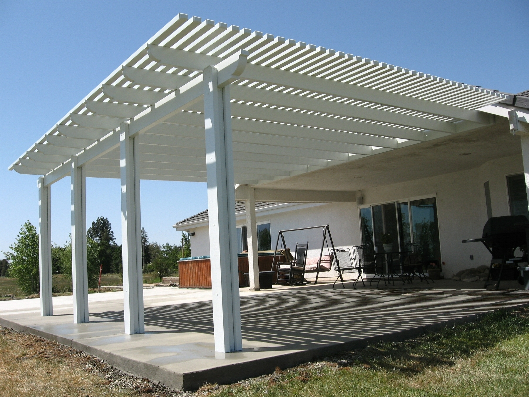 Image of: Wood Detached Patio Cover Plans